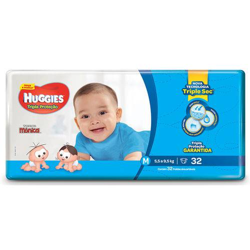 Fd Huggies Tmonica T-prot Jumbo Med 32un