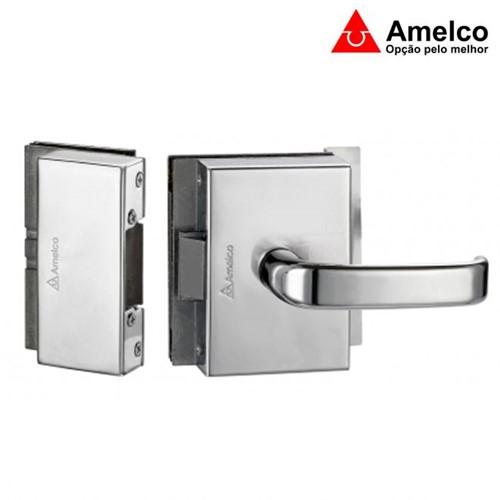 Fechadura Elétrica Cromada para Portas de Vidro 2 Folhas com Abertura Externa FV35ECRA - Amelco