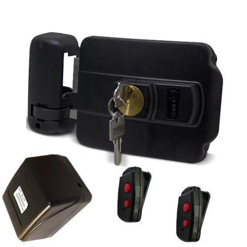 Fechadura Elétrica Lr120s Lider (ab Dentro) + Fonte Mkn +2tx