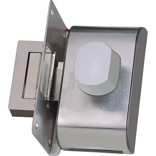 Fechadura Elétrica para Porta de Vidro HDL PV90 1R Inox Cromado