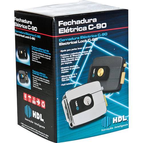 Fechadura HDL Elétrica C90 Dupla - Preta