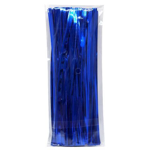 Fecho Prático Azul 4mmx11cm C/100