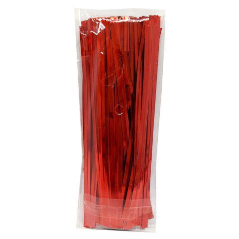 Fecho Prático Vermelho 4mmx11cm C/100