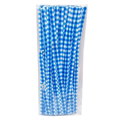 Fecho Prático Xadrez Azul 4mmx11cm C/100