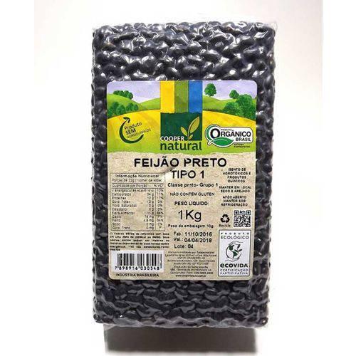 Feijão Preto Orgânico Coopernatural 1kg