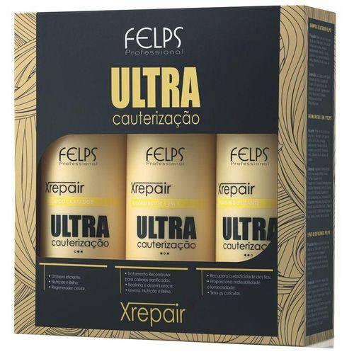 Felps Kit Xrepair Ultra Cauterização 3x500ml