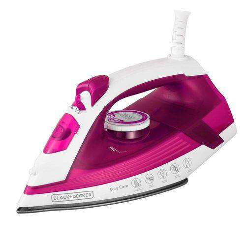 Ferro a Vapor Black&Decker Easy Care AJ2200 Branco/Rosa - 110V