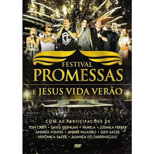 Festival Promessas e Jesus Vida Verão - Dvd Gospel