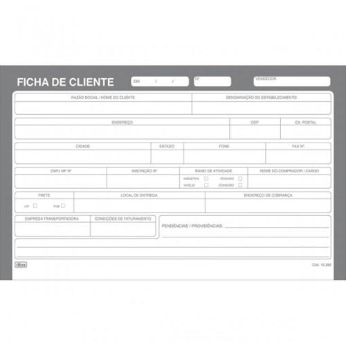 Ficha de Cliente Número 3 - 5x8 100 Folhas 153826