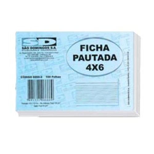 Ficha Pautada 4x6 São Domingos - 100 Folhas 130714
