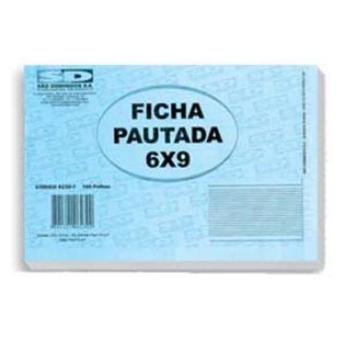 Ficha Pautada 6x9 São Domingos - 100 Folhas 130658