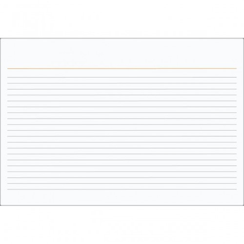 Ficha Pautada Número 1 - 3x5 100 Folhas 150266