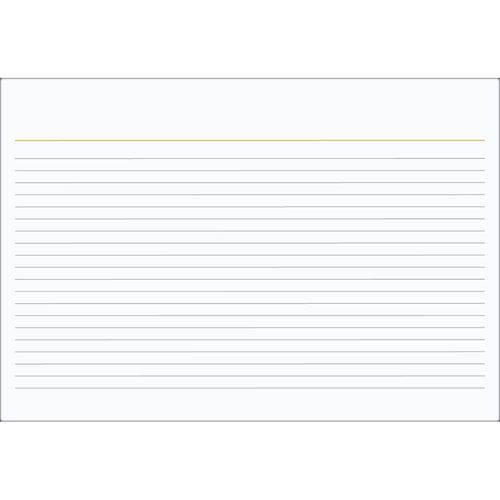 Ficha Pautada 3x5 Número 1 - 100 Folhas Tilibra
