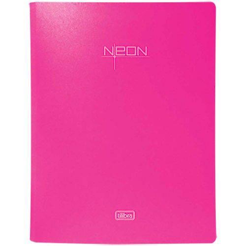 Fichário 4 Argolas em Polipropileno Lombada 40mm Neon Rosa
