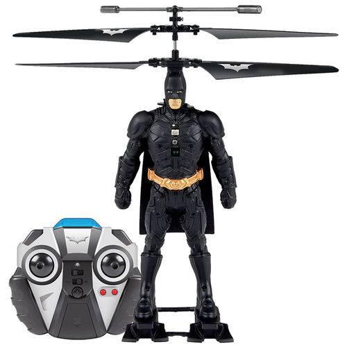 Figura Copter Hero - Helicóptero com Controle Remoto - Dc Comics - Batman - Candide