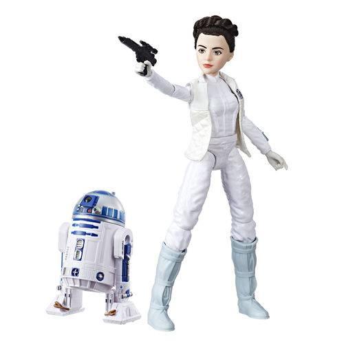 Figura e Robo - Star Wars - Forces Of Destiny - Leia Organa e R2-d2