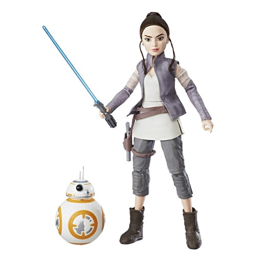 Figura e Robo - Star Wars - Forces Of Destiny - Rey e BB-8