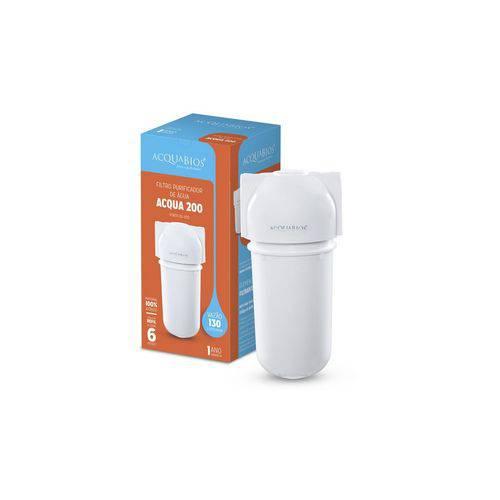 Filtro Acqua 200 Branco Carbon Block