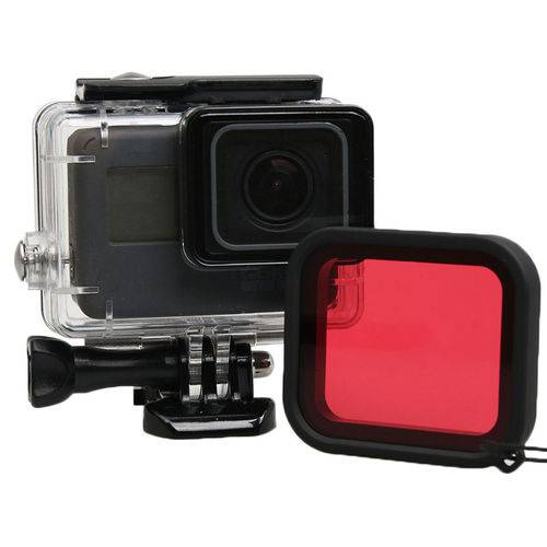 Filtro de Mergulho - Vermelho - Hero5 e Hero6 Black - Telesin