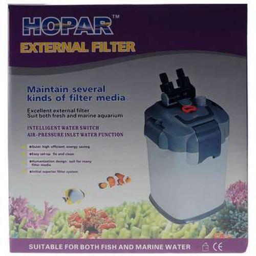 Filtro Hopar Canister Biológico Externo com Ultra Violeta Uvf-3328 de 9w - 220v