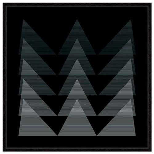 Fineline I Quadro 1 M X 1 M Preto/branco