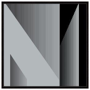 Fineline Ii Quadro 1 M X 1 M Preto/branco
