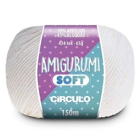 Fio Amigurumi Soft Círculo 150m 8001 - Branco