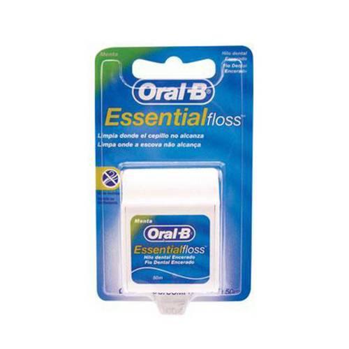 Fio Dental Oral-B Essential Floss Encerado Menta