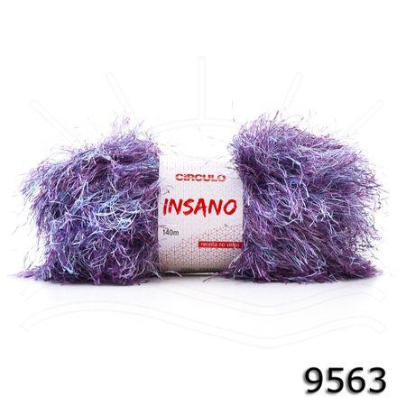 Fio Insano 100g 9563 - Mescla Azul/prata/rosa