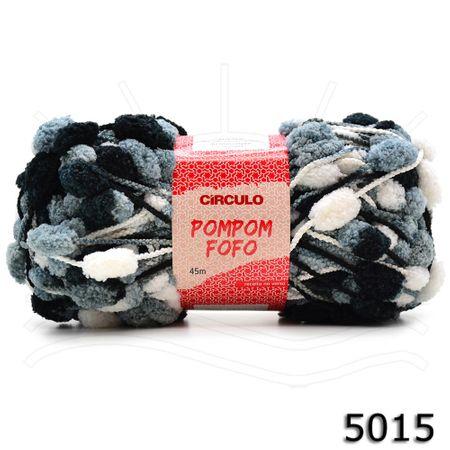 Fio Pom Pom Fofo 100g 5015 - Preto/branco/cinza