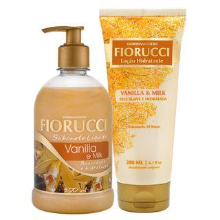 Fiorucci Vanilla & Milk Kit - Sabonete Líquido + Loção Hidratante Kit