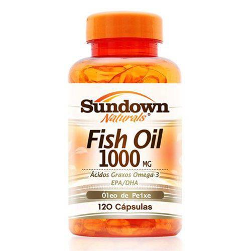 Fish Oil 1000mg - Óleo de Peixe - 120 Cápsulas - Sundown