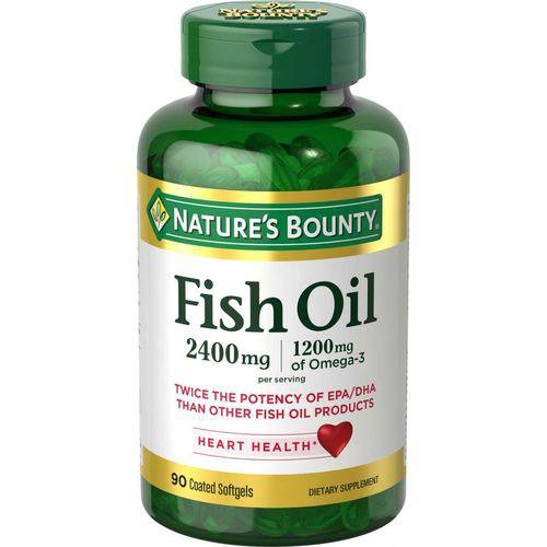 Fish Oil 2400mg (90 Softgels) - Natures Bounty