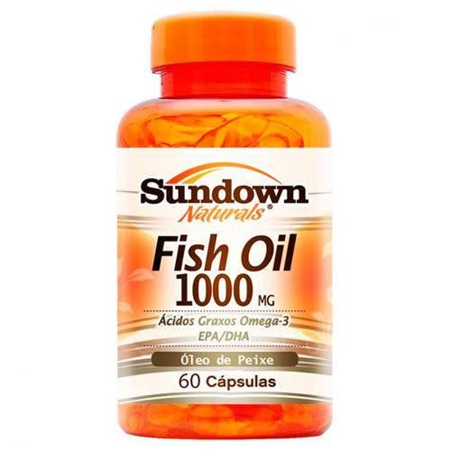 Fish Oil - Óleo de Peixe - 60 Cápsulas - Sundown