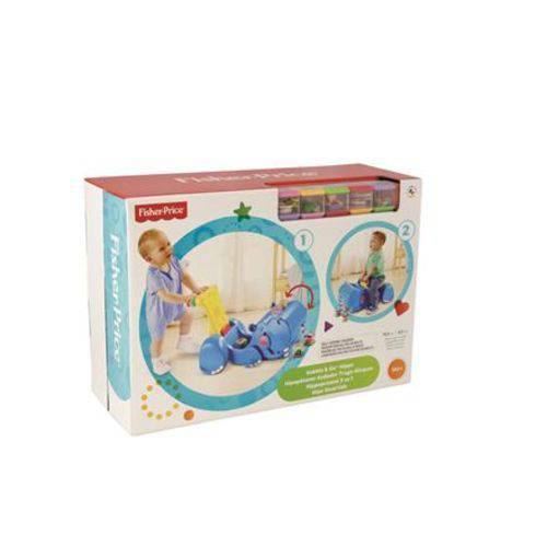 Fisher Price Hipopotamo Divertido 2 em 1