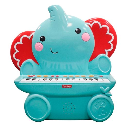 Fisher Price Linha Musical Teclado Elefante 25 Teclas - Fun Divirta-se