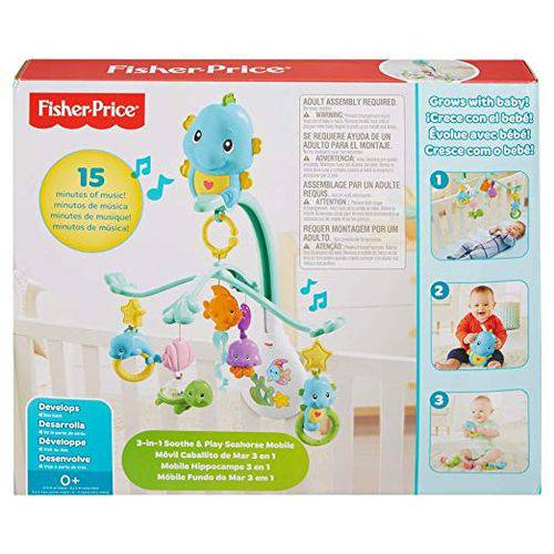 Fisher Price Mobile Musical 3 em 1 Fundo do Mar Dfp12 Mattel