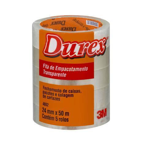 Fita 4802 24x50 Transparente Durex 3m
