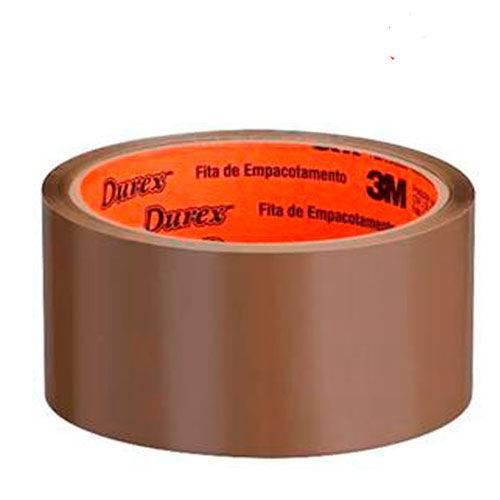 Fita Adesiva Empacotadora 3M Durex Marrom