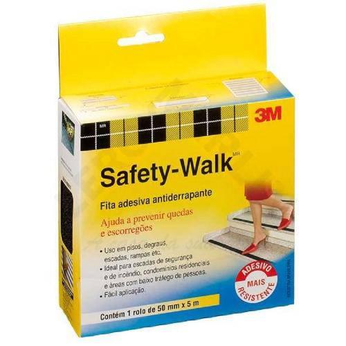 Fita Adesiva 3m Antiderrapante - Preta - Safety-Walk - Ref. H0001912452