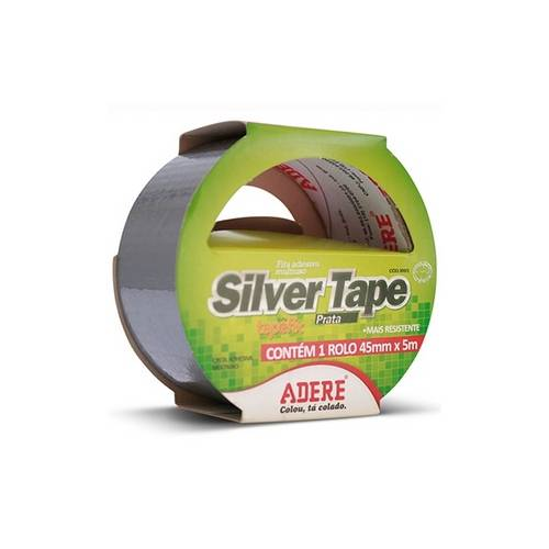 Fita Adesiva Multiuso Silver Tape Prata 45mmx5m Ref. 8005 - Adere