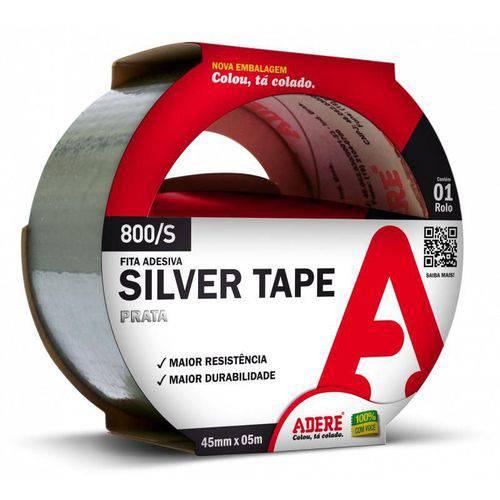 Fita Adesiva Multiuso Silver Tape Prata 45x5m Adere - 5 Unid