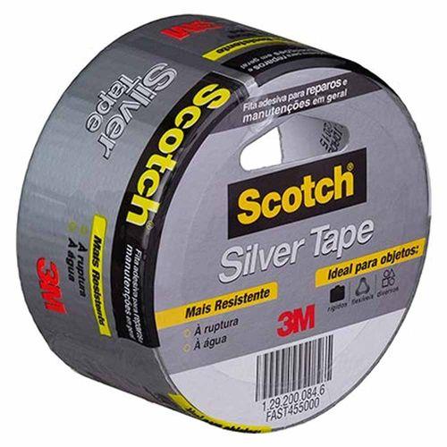 Fita Adesiva Silver Tape 3M Scotch 45x5 997710