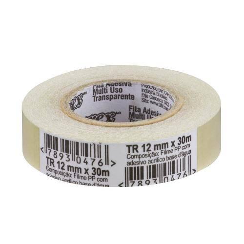 Fita Adesiva Transparente 3M Durex - 89 012 Mm X 030 M HB004174262