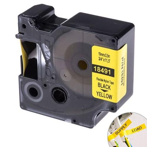 Fita Amarela Nylon 19mm X 3.5m para Rotulador Profissional Rhinopro Dymo