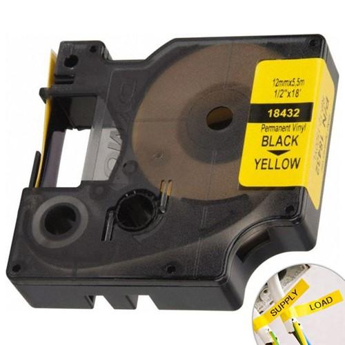 Fita Amarela Vinilica/PVC 12mm X 5.5m para Rotulador Profissional Rhinopro Dymo