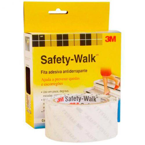 Fita Antiderrapante 50mmx5m Safety Walk Banheiro 3m