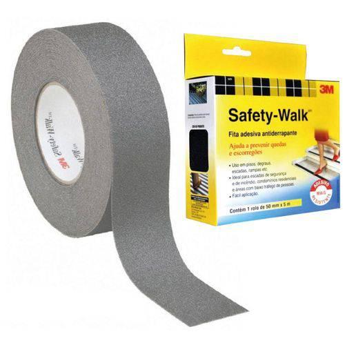 Fita Antiderrapante 3M Cinza Safety Walk 50mm X 5mts