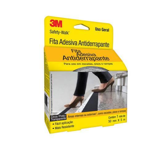 Fita Antiderrapante Safety Walk Cinza 3M 50mmx5m
