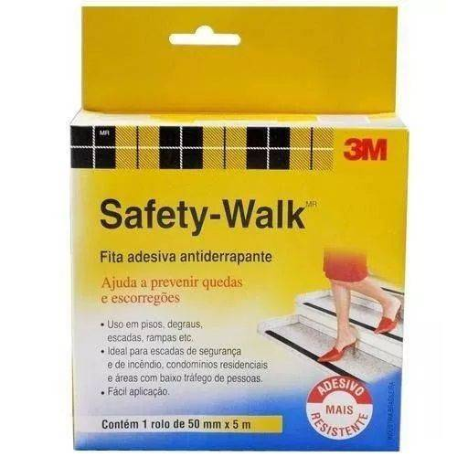 Fita Antiderrapante Transparente 50mm X 5m Safety Walk 3m